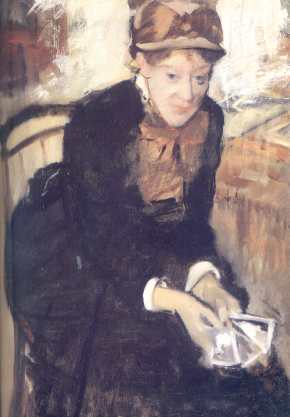 portrait de Mary Cassat,1880-84,oil,The Smithsonian Institution,Washington,D.C.
